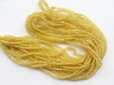 Yellow Sapphire Faceted Rondelle Beads Natural by gemsforjewels