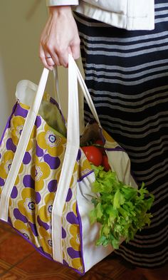 How to make your own re-usable shopping bag (free pattern and tutorial using A4 as a template)