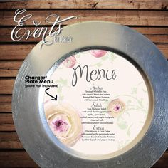 8 Round Circle Peony Ranunculus Plate / Charger by Eventsbyicandy, $1.00