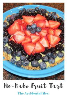 No-bake fruit tart recipe from The Accidental Mrs.: