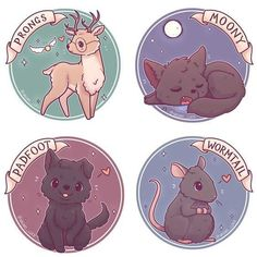 Kawaii Marauders Moony Wormtail Pafoot and Prongs. Stickers Kawaii Marauders Moony Wormtail Pafoot and Prongs. Stickers The post Kawaii Marauders Moony Wormtail Pafoot and Prongs. Stickers appeared first on Pink Unicorn. Harry Potter Tumblr, Harry Potter Fan Art, Harry Potter Anime, Images Harry Potter, Cute Harry Potter, Mundo Harry Potter, Harry Potter Drawings, Harry Potter Universal, Harry Potter Fandom