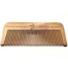 Badass Wood Beard Comb
