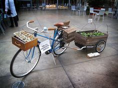 Homespun Bikes in Oakland created The U.S. Compostal Service, a mobile compost and food vending system.