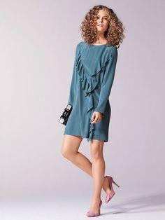 Long Sleeve Flounce Dress 01/2017