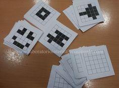 BUONE PRATICHE: pensiero computazionale & coding lez. 4: programmare su carta quadrettata seconda parte Coding For Kids, Pixel Art, Arduino, Bee, School, Maths, Montessori, Classroom Ideas, Dessert
