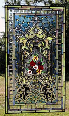 The Refreshing Garden Stained Glass Window