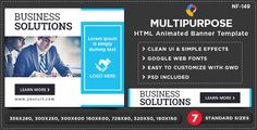 nice HTML5 Multi Objective Banners - GWD - 7 Sizes(NF-CC-149) (Advert Templates)