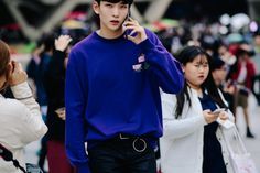 The Best Street Style at Seoul Fashion Week Includes Chanel Tweeds and Bold Primary Colors Photos | W Magazine