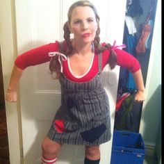 Home made 'Pippy LongStocking' costume for a 'P' themed party I attended last night