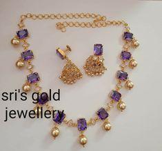 Jewelry Design Earrings, Gold Earrings Designs, Bead Jewellery, Beaded Jewelry, Simple Necklace Designs, Agate Jewelry, India Jewelry, Gold Bangles Design, Gold Jewellery Design