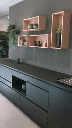 Luxury Kitchen Design, Contemporary Kitchen Design, Interior Design Kitchen, Home Decor Kitchen, Kitchen Furniture, Home Kitchens, New Kitchen Inspiration, Cocina Office, Kitchen Models