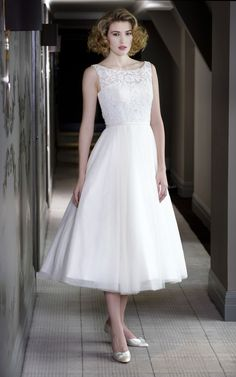 Betty by Madeline Isaac James, Lace bodice with tulle skirt.