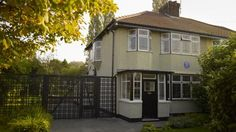 The exterior of Mendips, the childhood home of John Lennon, in Woolton, Liverpool