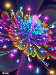 анимация | natalia igochewa | Полезное о технологиях на Постиле Neon Flowers, Flowers Gif, My Flower, Flower Art, Beautiful Images, Beautiful Flowers, Good Night Gif, Flower Phone Wallpaper, Illusion Art