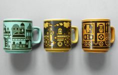 John Clappison was a prolific designer of ceramics, mainly for Hornsea Pottery. The mug on the left is great. Hornsea Pottery, Ceramic Pottery, Pottery Mugs, Pottery Ideas, Ceramic Mugs, Ceramic Art, Vintage Pottery, Vintage Ceramic, Dining Ware