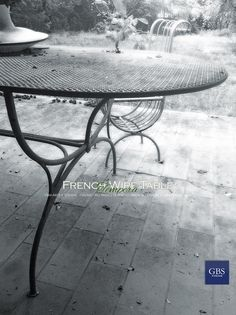 French Wire Table and Chairs. Hand-painted wrought iron. GBS. Made in Florence. Since 1925. www.gbsfirenze.com