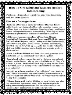 Freebie!  #3 in the series of Reading Tidbits. Love the idea of letting kids stay up to read for a bit - great idea for weekends.