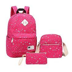 2e4b52e737f Schoolbag for High School,MeiLiio 3 Pcs/Set Fashion Studen Backpack Sets  with Zipper Lunch Bag &