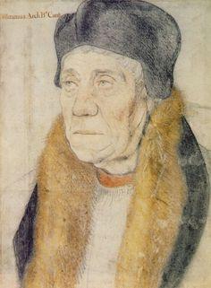 William Warham, portrait par Hans Holbein