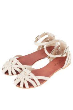 HAPPY Closed Strippy Sandals - Flat Sandals - Flats - Shoes - Topshop USA