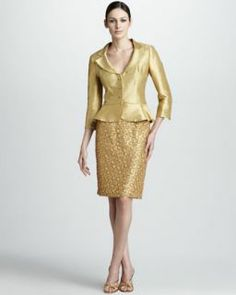Tahari by ASL Petite Suit, Satin Jacket & Lace Sheath Dress ...
