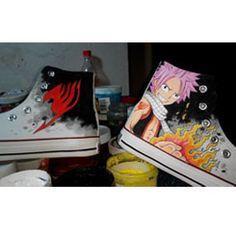 Fairy Tail Hand Painted Anime Shoes Fairy Tail Shoes Custom Anim