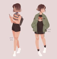 That outfit on the right would look so nice if you had an oversized jacket