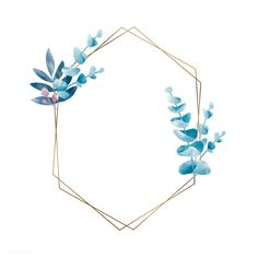 Geometric frame with leaves vector Free . Flower Background Wallpaper, Framed Wallpaper, Flower Backgrounds, Weihnachten Vektor, Fond Design, Framed Leaves, Leaves Vector, Floral Logo, Watercolor Leaves