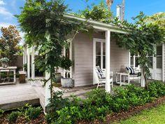 Side Patio Home Design In 2019 House White Exterior Garden Design, House Design, Landscape Design, Cottage Exterior, Outdoor Living, Outdoor Decor, Coastal Cottage, Maine House, Exterior Colors