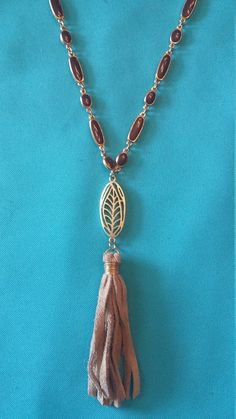 Upcycled Tassel Necklace by 205maple on Etsy