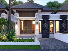 Best modern home exterior on budget 24 - Coffee Milk House Front Design, Small House Design, Modern House Design, Bungalow Floor Plans, Modern Bungalow House, Style Villa, Minimalist House Design, House Blueprints, Facade House