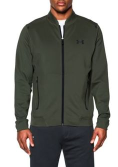 Under Armour Downtown Green Black Elevated Bomber Jacket