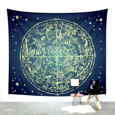 Zodiac Star Map Canvas Print by PaperBoundLove Tapestry Wall Hanging, New Room, Stargazing, Wall Signs, Room Inspiration, Boho Decor, Bedroom Decor, Paris Bedroom, Bedroom Inspo