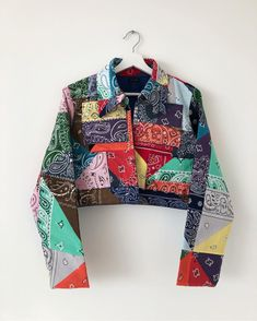 *Swipe for details* Final version of the Yaito Paisley Reconstructed Women's jacket. Updated collar, sleeves & waist band with four… Kpop Fashion Outfits, Edgy Outfits, Colourful Outfits, Cool Outfits, Fashion Dresses, Love Fashion, Vintage Fashion, Womens Fashion, Fashion Design