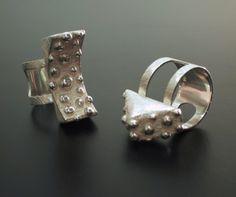 "Tytti Lindström, ""Bubble Signs"" rings in sterling silver. | TyttiLindström.com #Finland"
