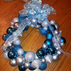 Dyi Christmas ornament wreath - That I made :)