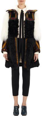 Chloé Tapestry & Shearling Coat at Barneys New York