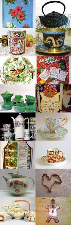TIME FOR TEA AND COOKIES #Voguet by Gena Lightle on Etsy, www.PeriodElegance.etsy.com  #vintage #teatime