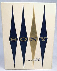 Vintage sony logo. Mid-century. Good colors.