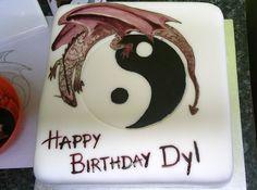 Yin and Yang Dragon birthday cake