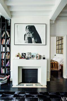 Italian Vogue Editor Franca Sozzani's Paris Townhouse - Architectural Digest Best Interior Design, Home Interior, Home Design, Interior Architecture, Interior Decorating, Luxury Interior, Decorating Ideas, Home Renovation, Paris Home