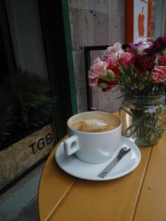TGB Coffee and flowers