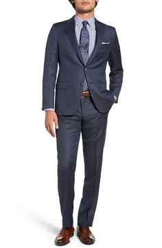Hickey Freeman Classic Fit Solid Wool Suit available at #Nordstrom