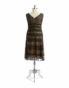 Three-Quarter-Sleeve Lace A-Line Dress. Store: Macy's (Brand ...