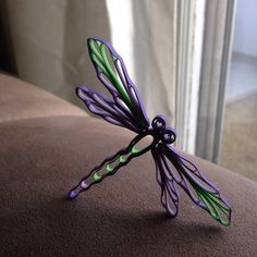 Quilled Dragon fly - by: Lorrie Timberlake of Quilling Plus FB