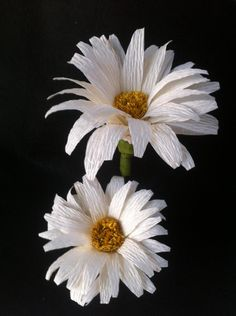 Make this beautiful daisyflower using crepe paper streamers. You can get these streamers at the dollar stores or craft stores. They are very inexpensive. The instructions are simple and you only need a few supplies to get started.    Materials   crepe paper streamers soft wire wire glue scissors