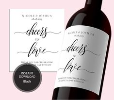 INSTANT DOWNLOAD PDF Template 3,5x4 Editable Wedding Wine Label Cheers to Love Printable Digital Wine Bottle Label Printable #DP110_66 by DreamPrintable on Etsy  #wedding #instant #download #printable #image #graphic #digital #reception_sign #PDF #Template #wedding_ceremony #wedding_printable #Calligraphy #Sign #events #events_design #wedding_design #wedding_sign