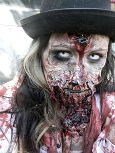 """Makeup/prothetics hand-made by me, """"A Clockwork Zombie"""" http://www.makeupbee.com/look.php?look_id=57490"""