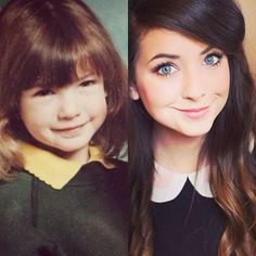 Back then she had no idea how much she would achieve and how many people loved… British Youtubers, Best Youtubers, Pointless Blog, Zoe Sugg, Celebrities Then And Now, Internet Friends, Bae, Tyler Oakley, Zoella