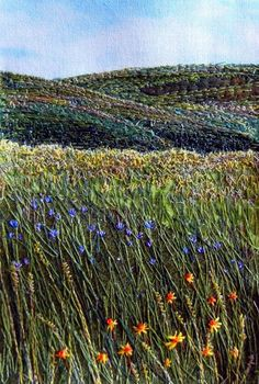 ♒ Enchanting Embroidery ♒ embroidered landscape: